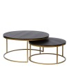 Charrell - COFFEE TABLE TODD S/2 - DIA 80/60 - H 44/35 CM (image 1)