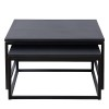 Charrell - COFFEE TABLE FERRUM S/2 - 70X70H38 / 62X62XH 32 (image 1)