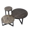Charrell - SIDE TABLE SPLENDID-MARBLE TOP DIA 80 - DIA 80 H 42 CM (image 5)