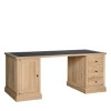 Charrell - DESK CORBY 180 - WITH LEATHER TOP - 180 X 80 - H 77 CM (image 3)