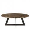 Charrell - COFFEE TABLE TWIST DIA 100 - MARBLE - DIA 100 - H 38 CM (image 2)