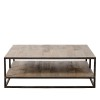Charrell - COFFEE TABLE DOUBLE DECK 120/70 - 120 X 70 - H 38 CM (image 2)