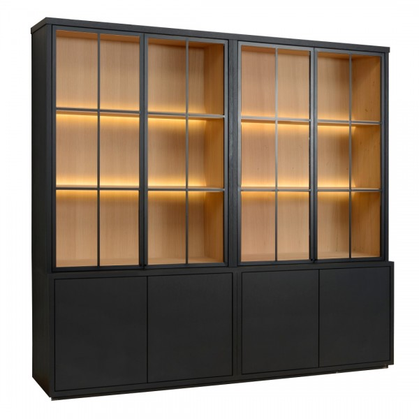 Charrell - CABINET MEZZO 4 PARTS 240 ALL GLASS - 240 X 50 - H 225 CM (image 3)