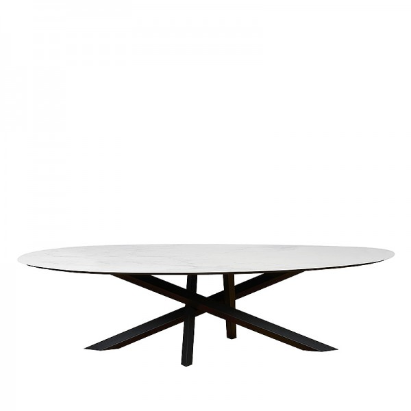 Charrell - DINING TABLE MADRID - 290/140 - CER 75 MAT - 290 X 140 H 75 CM (image 1)