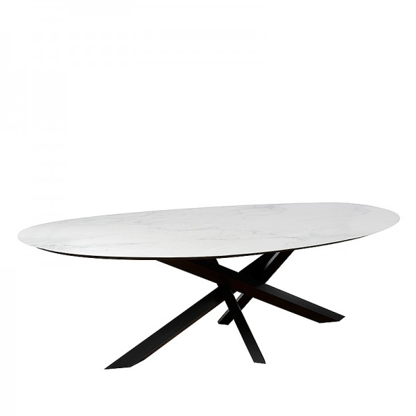 Charrell - DINING TABLE MADRID - 290/140 - CER 75 MAT - 290 X 140 H 75 CM (image 2)