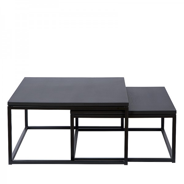 Charrell - COFFEE TABLE FERRUM S/2 - 90/80 X 90/80 - H 38/30 CM (image 2)
