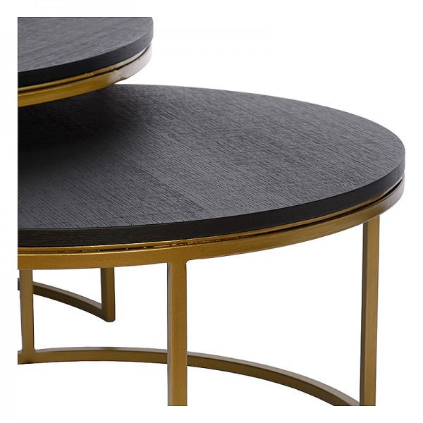 Charrell - COFFEE TABLE TODD S/2 - DIA 80/60 - H 44/35 CM (image 2)