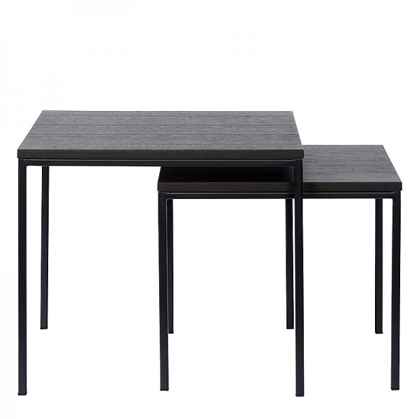 Charrell - SIDE TABLE DUO - 50X50H45/43X43H38 CM (image 1)