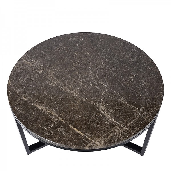 Charrell - SIDE TABLE SPLENDID-MARBLE TOP DIA 80 - DIA 80 H 42 CM (image 2)