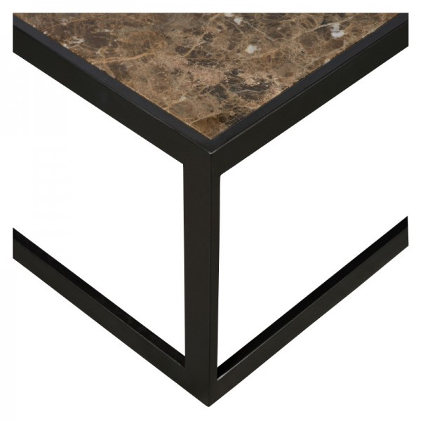 Charrell - COFFEE TABLE HYATT 80/80 - MARBLE - 80 X 80 - H 40 CM (image 3)