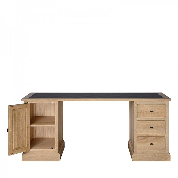 Charrell - DESK CORBY 180 - WITH LEATHER TOP - 180 X 80 - H 77 CM (image 2)