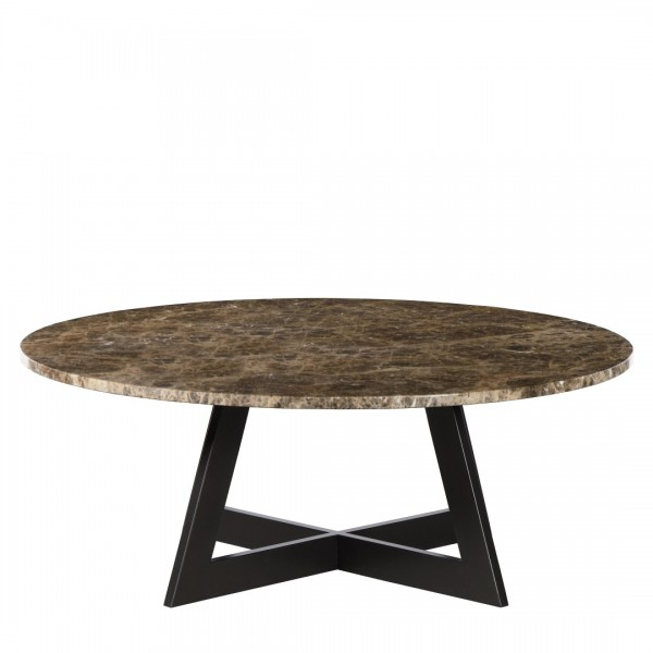 Charrell - COFFEE TABLE TWIST DIA 100 - MARBLE - DIA 100 - H 38 CM (image 1)