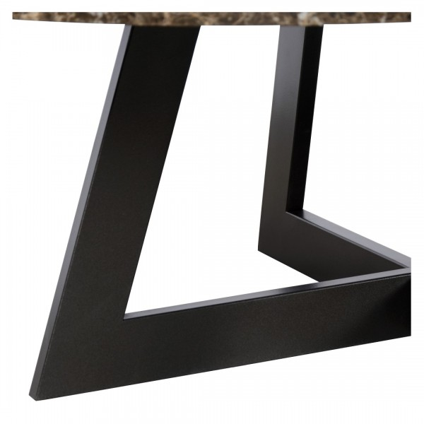 Charrell - COFFEE TABLE TWIST DIA 100 - MARBLE - DIA 100 - H 38 CM (image 3)