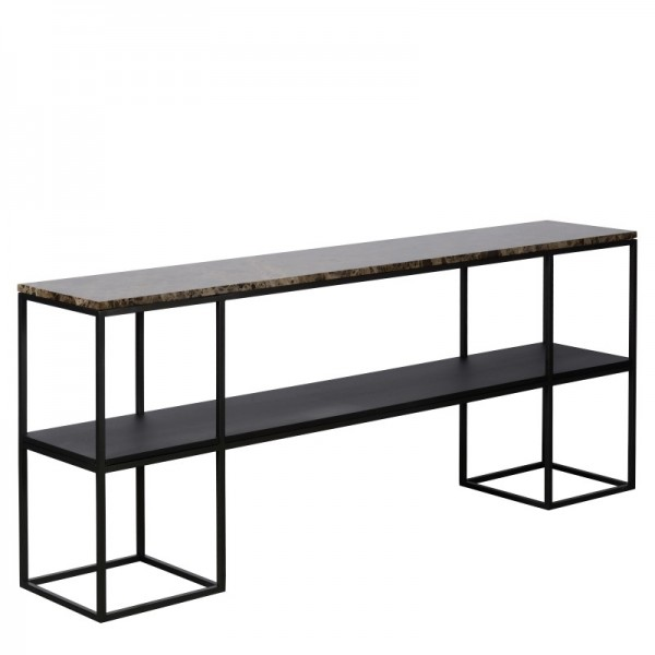 Charrell - CONSOLE MADISON 180/35 - MARBLE - 180 X 35 - H 75 CM (image 2)