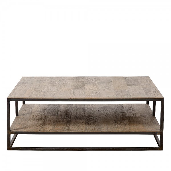 Charrell - COFFEE TABLE DOUBLE DECK 100/100 - 100 X 100 - H 38 CM (image 2)