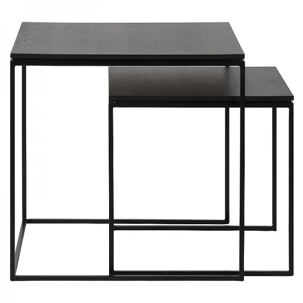 Charrell - SIDE TABLE FERRUM FINE S/2 - 50-50-H50/40-40-H40 CM (image 3)