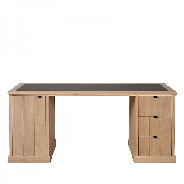 Charrell - DESK LANCASTER 180 - WITH LEATHER - 180 X 80 - H 77 CM (image 1)