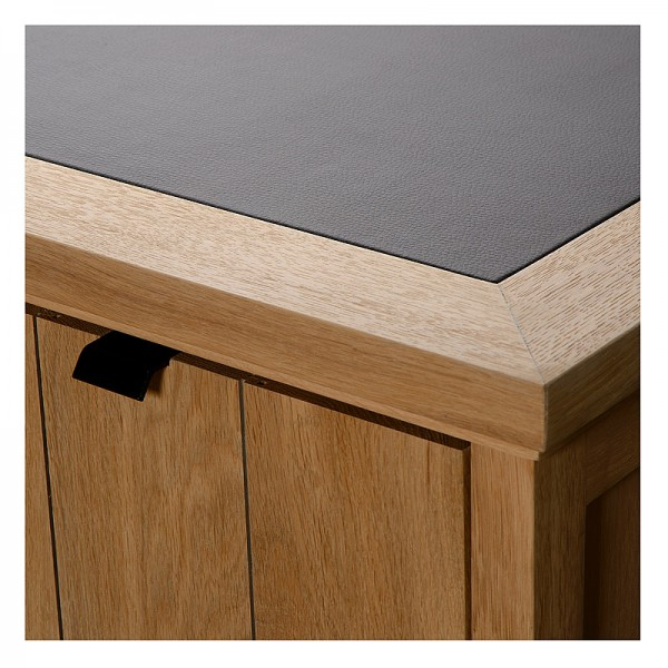 Charrell - DESK LANCASTER 180 - WITH LEATHER - 180 X 80 - H 77 CM (image 2)