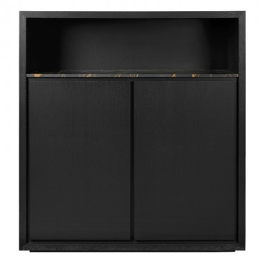 Charrell - CABINET LEXON LOW/OPEN - MARMER PORT LAURENT - 125 X 45 H 140 CM