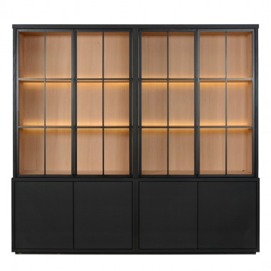 Charrell - CABINET MEZZO 4 PARTS 240 ALL GLASS - 240 X 50 - H 225 CM