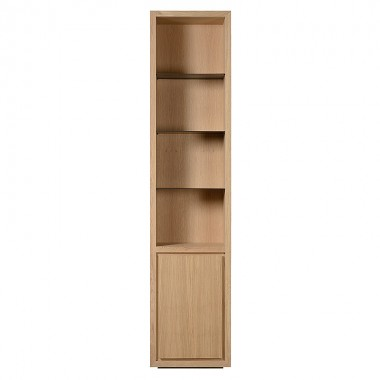 Charrell - BOOKCASE LEXON 55 OPEN-DOOR LEFT/RIGHT - 55 X 40 - H 245 CM