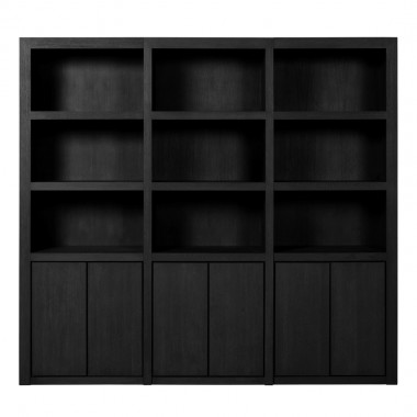 Charrell - BOOKCASE METRO OPEN 3 PARTS - 237 X 45 - H 220 CM