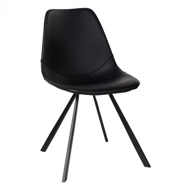Charrell - CHAIR BEAU - BLACK - 45 x 55 - H 80 cm