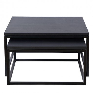 Charrell - COFFEE TABLE FERRUM S/2 - 90/80 X 90/80 - H 38/30 CM