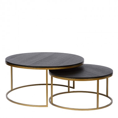 Charrell - COFFEE TABLE TODD S/2 - DIA 90/70 - H 44/35 CM