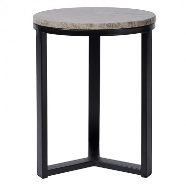 Charrell - SIDE TABLE SPLENDID-MARBLE TOP DIA 40 - DIA 40 H 30