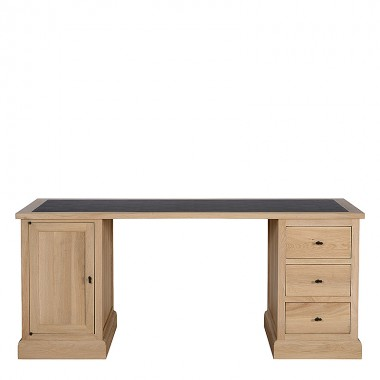 Charrell - DESK CORBY 180 - WITH LEATHER TOP - 180 X 80 - H 77 CM