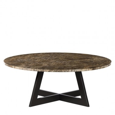 Charrell - COFFEE TABLE TWIST DIA 100 - MARBLE - DIA 100 - H 38 CM