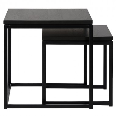 Charrell - SIDE TABLE FERRUM S/2 - 50-50-H50/40-40-H40 CM