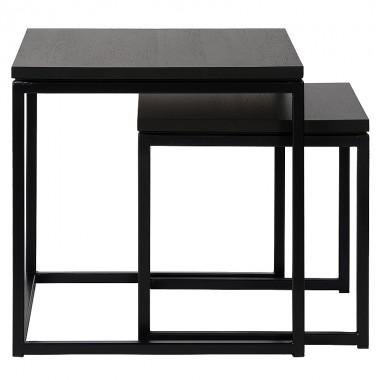 Charrell - SIDE TABLE FERRUM S/2 - 50-50-H50/40-40-H40 CM
