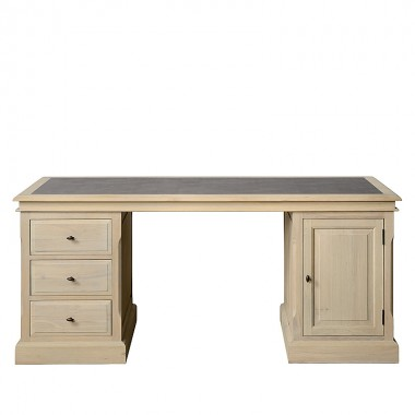 Charrell - DESK LANDSCAPE 175 - WITH LEATHER - 175 X 80 - H 78 CM