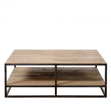 Charrell - COFFEE TABLE DOUBLE DECK 110/110 - 110 X 110 - H 38 CM